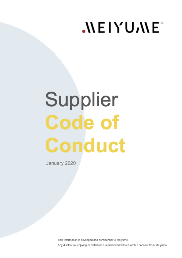 Code of Conduct Meiyume